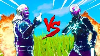 FEMALE GALAXY SKIN vs MALE GALAXY SKIN 1V1! In Fortnite Battle Royale