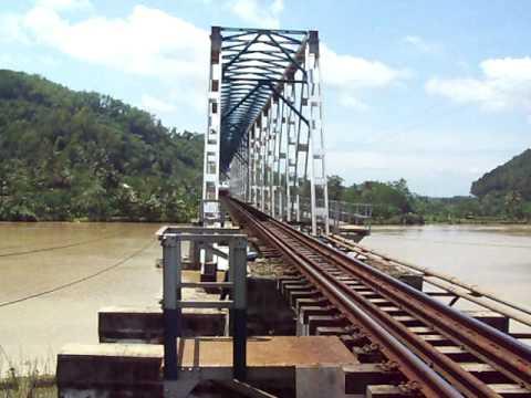 Train Railway Argo Lawu passing Serayu Bridge