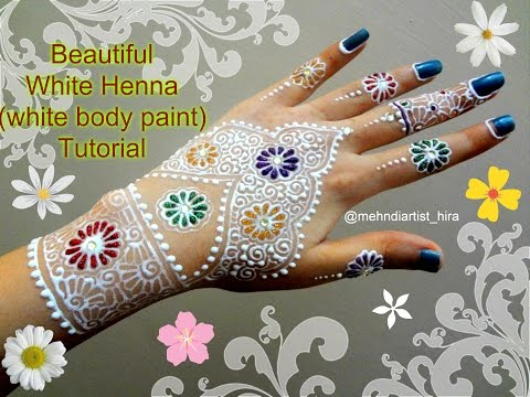 Xxx Mp4 How To Apply Easy Simple Beautiful White Henna Mehndi Designs For Hands With Glitter Tutorial 3gp Sex