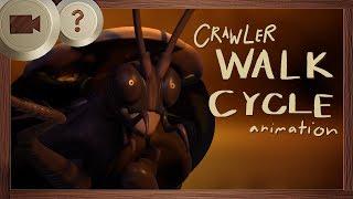 Crawler Walk Cycle   BLENDER ANIMATION LIVESTREAM