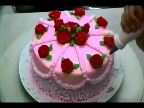 Pastel decorado con glasé real royal icing Recordando a mamá . LuzMa CyR