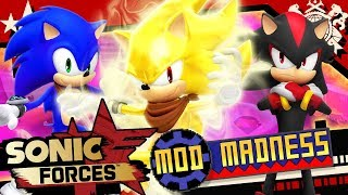 Sonic Forces (PC 4K 60FPS) SUPER SONIC Boom & Boom Shadow - Mod Madness