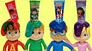 ALVINNN!!! & THE CHIPMUNKS Learn Colors Bath Fingerpaint Tub Time ORBEEZ, Toy Surprises / TUYC