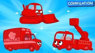 Morphle Vehicle Adventures for Kids! (Ambulance, Firetruck, Dumptruck, Bulldozer)