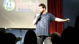 """Jeffrey Ross getting """"heckled"""" by a drunk."""