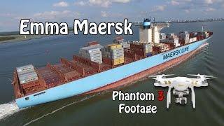 Emma Maersk - 4K Aerial Footage - Dji Phantom 3 Professional