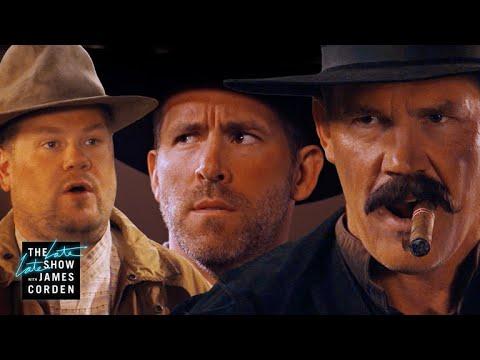 Before Deadpool 2 Ryan Reynolds & Josh Brolin Did a Western Corden s Sketch of the Week