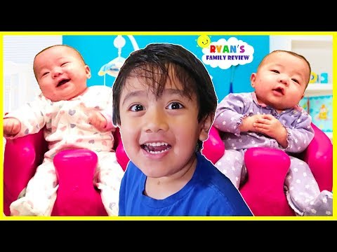 Reacting to Twin Babies Emma and Kate first year with Ryan s Family Review