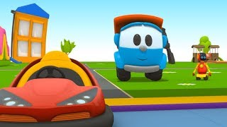 Leo the truck & robots for kids. Cartoon for kids.