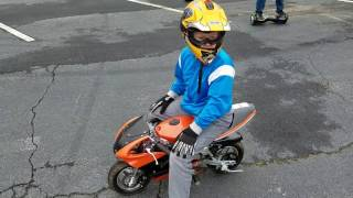 Top speed runs with Nathans new pit bike... Rosso motors 49cc