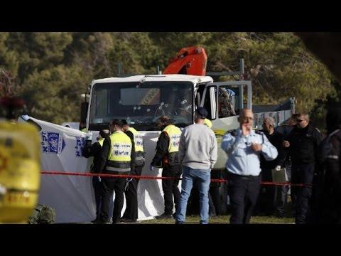watch Palestinian Terrorist Rams Truck Into Crowd, Kills 4