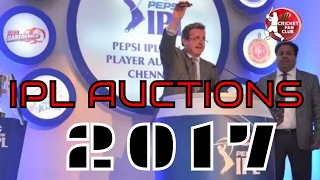 IPL AUCTION 2017! HIGHLIGHTS | ALL EIGHT TEAMS EXPENSIVE PLAYERS | Cricket Fan Club