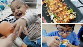 Pakistani Mom Dinner Routine   Hawaiian Chicken Kebab   Weekend Vibes   Naush Vlogs