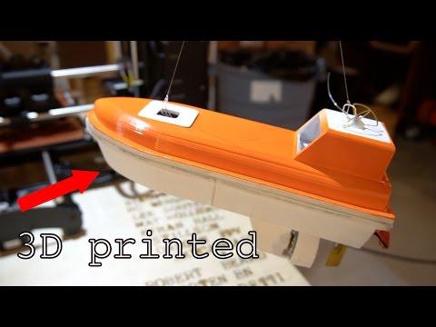 RC 3D Printed Lifeboat