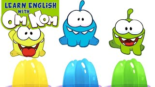 COLORFUL JELLY SLIME   Learn Colors With Jelly Slime Fun Toys For Kids By Om Nom