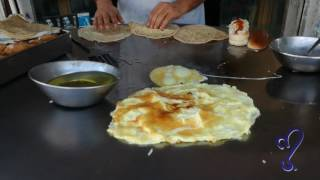 Egg Roti Street food of Karachi, Pakistan.
