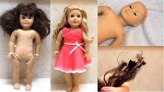 Fixing an old AG doll (+BURNED HAIR FAIL!)