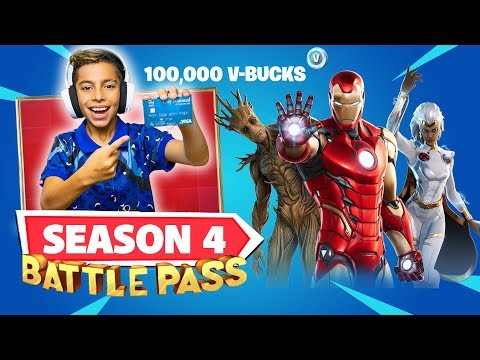 BUYING Fortnite SEASON 4 BATTLE PASS With My Dad s Credit Card Royalty Gaming