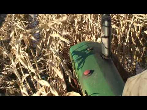 John Deere 630 tractor and New Idea mounted corn picker.
