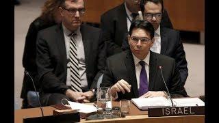 شاهد رد فعل و استفزاز مندوب اسرائيل في الامم المتحدة بعد رفض قرار ترامب بشأن القدس