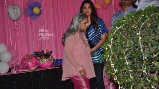 Jaya Bachchan dresses up almost like a clown at Aaradhya Bachchan