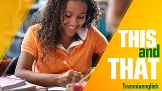 Correct Use of 'This' and 'That' - English Learning Lesson