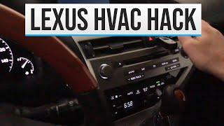 2010 Lexus RX350 HVAC Problems - Not ac blend door actuator!