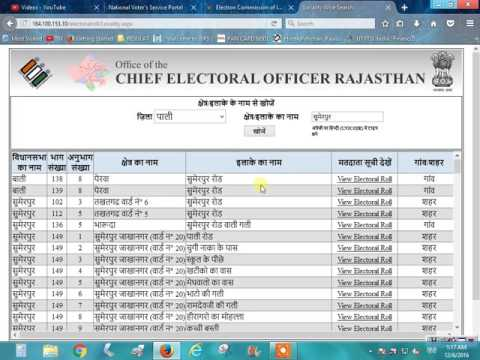 How To Find voter List in Rajasthan and Name IN Voter list