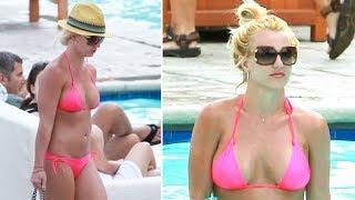 Britney Spears Looking Hot In A Pink Bikini Poolside In Marina Del Rey [2009]