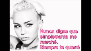 Wrecking Ball - Miley Cyrus (Subtitulos en Español) HQ*