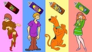 Baby Learn Colors with Wrong Colors Scooby Doo, Shaggy Rogers, Velma Dinkley, Daphne Blake