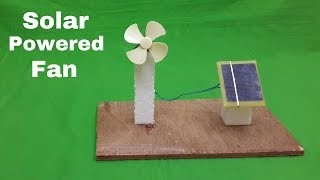 How to Make a Solar Powered Electric Fan - Science Project