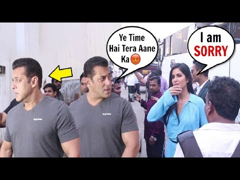 Xxx Mp4 Salman Khan Gets ANGRY Amp IGNORES Katrina Kaif For Coming Late For Bharat Promotion 3gp Sex