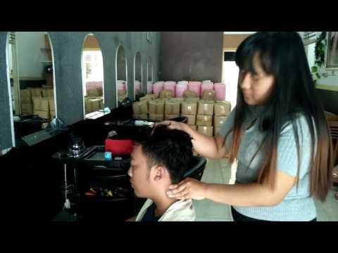 Sofie: Powerful Girl Head Massage Barber | ASMR Video - Street Massage