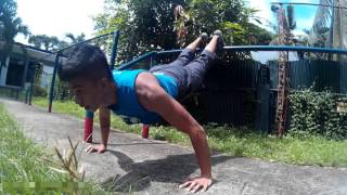 Circuit training at Philippine Marines Fitness Park