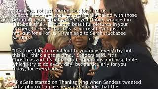 White House press secretary Sarah Sanders ends #PieGate