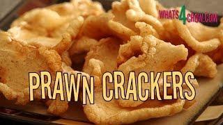 Thai Prawn / Shrimp Crackers. Homemade prawn / shrimp crackers. Home made prawn crisps.