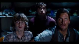 T Rex vs  Indominus Rex   Jurassic World 2015 Movie Clip Blu ray 4K ULTRA HD