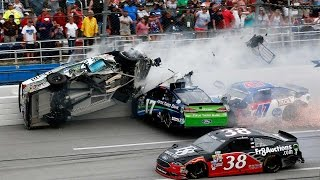 Nascar - 2016 - Talladega - Crash Compilation (Original Sound - No Music)