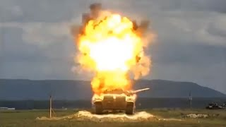TOW Missile vs T-72 Tank In Slow Motion