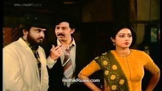Hrithik and shreedevi making fun of rajnikanth and rakesh roshan in bhagwan dada