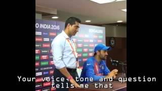 Dhoni rips into journalist after India vs Bangladesh #WT20 Match 2016