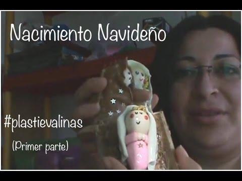 NACIMIENTO NAVIDEÑO plastilina tutorial PLASTIEVALINAS primer parte