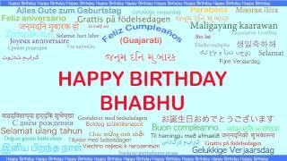 Bhabhu   Languages Idiomas - Happy Birthday