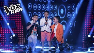 Juanse, Robert y David Tarapues cantan Traicionera   La Voz Kids Colombia 2018