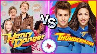 Henry Danger VS The Thundermans Musical.ly Battle | Nickelodeon Stars Musically Compilation
