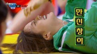 【TVPP】HyoMin(T-ara),HaNa(Secrete) - SSireum, 효민(티아라),하나(시크릿) - 씨름 예선 @2015 Idol Star Championship