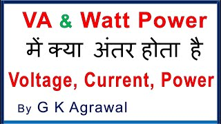 KW, KVA, KVAR, KwH Power Difference & PF In Hindi