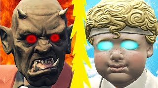 INSANE ANGELS vs. SCARY DEMONS! (GTA 5 Funny Moments)
