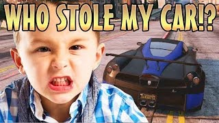 STEALING KIDS CAR WHILE INVISIBLE TROLLING! (GTA 5 Mods)